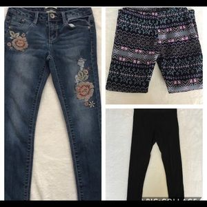 Jeans and Leggings Bundle Girls Size 10
